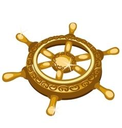 Golden ships rudder closeup single fragment vector image vector image