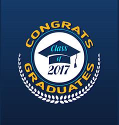 graduate class label vector image