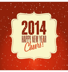 Happy new year 2014 vintage style greeting card vector