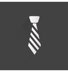 Hipster tie icon vector