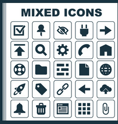Interface icons set collection of load siren vector