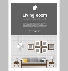 Interior design Modern living room banner 1 vector image