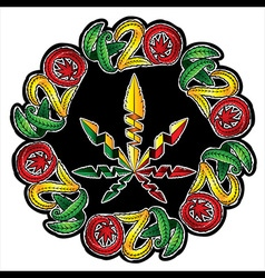 Marijuana jamaican style design stamp vector