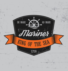 mariner label poster vector image