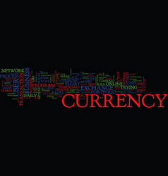 Mazu e currency exchange text background word vector