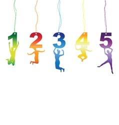 number jumper tag labels vector image