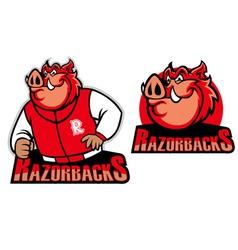Razorback school mascot vector
