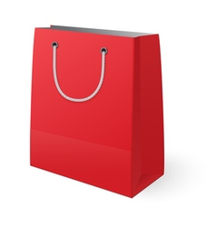 Red shopping bag isolated on white background vector