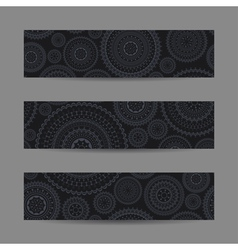 Set of lace banners vector image vector image