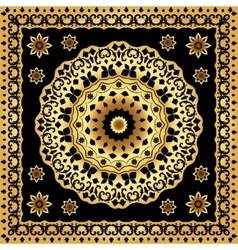 Shawl with circular gold pattern vector