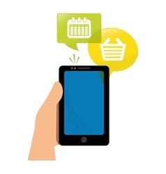 Smartphone shopping calendar app vector