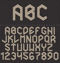 Triangle font geometric alphabet on dark b vector