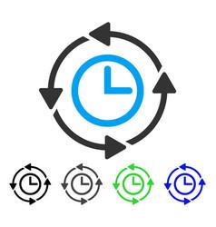 Wayback clock flat icon vector