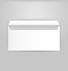 White Open Envelope Mockup vector image