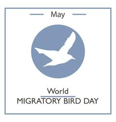 World Migratory Bird Day vector image