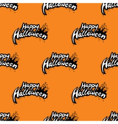 Happy halloween seamless pattern with cemetery vector