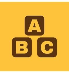 ABC building blocks icon ABC bricks design vector image