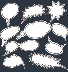Set of comic style talk clouds vector image