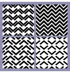 geometric seamless pattern set retro vintage vector image
