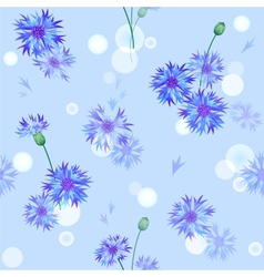 seamless pattern with bluebottles vector image