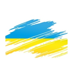Flag ukraine in the form traces brush vector