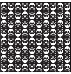 Seamless pattern with skulls and bones black vector