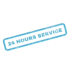 24 hours service text rubber stamp vector