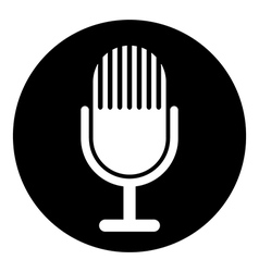 Microphone symbol button vector