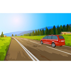 Car travel vector