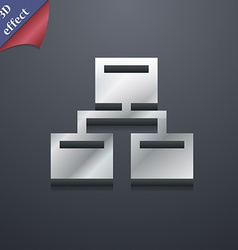 Local network icon symbol 3d style trendy modern vector
