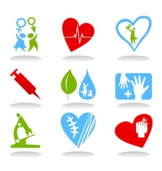 Medical icons6 vector