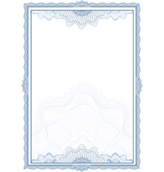 Classic guilloche border for diploma or certificat vector