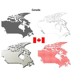 Canada outline map set vector