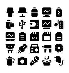 Electronics icons 9 vector