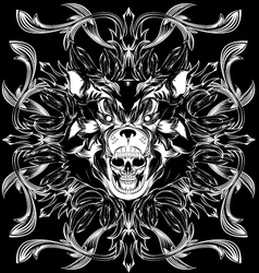 Bear skull pattern vector