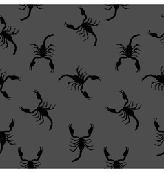 Large scorpion silhouette seamless pattern vector