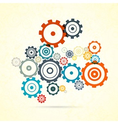Abstract colorful cogs - gears vector image vector image