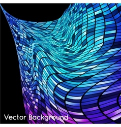 Abstract grid rainbow background vector