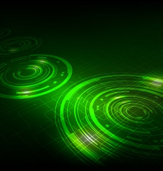 Abstract technology dark green background vector