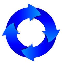 arrows circle vector image vector image