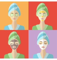 Beauty and spa procedures made in flat design vector image