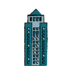 Building structure facade icon vector