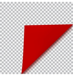 Curved corner of paper vector