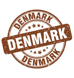 Denmark brown grunge round vintage rubber stamp vector