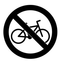 do not ride bike symbol sign badge vector image vector image