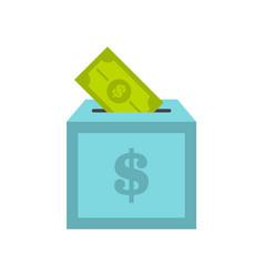 donation box icon flat style vector image