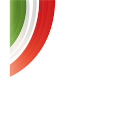 frame with flag of italy vector image