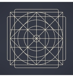 geometrical background of circles and vector image vector image