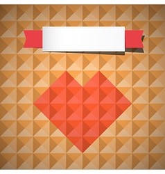 Heart Symbol on Retro Triangle Background vector image