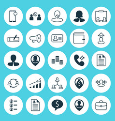 Hr icons set collection of wallet money vector